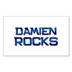 damien rocks Rectangle Decal