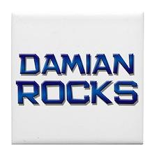 damian rocks Tile Coaster
