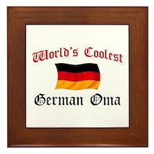 Coolest German Oma Framed Tile