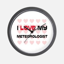 I Love My Meteorologist Wall Clock