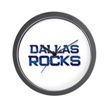 dallas rocks Wall Clock