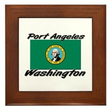 Port Angeles Washington Framed Tile