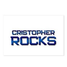 cristopher rocks Postcards (Package of 8)