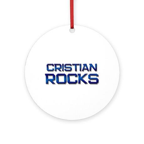 cristian rocks Ornament (Round)
