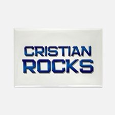 cristian rocks Rectangle Magnet