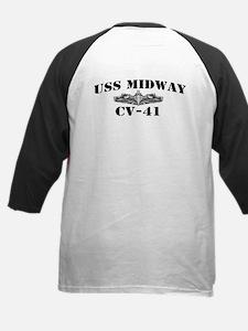 USS MIDWAY Kids Baseball Jersey