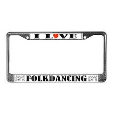 Folk Dancers License Plate Frame
