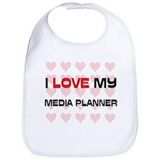 I Love My Media Planner Bib