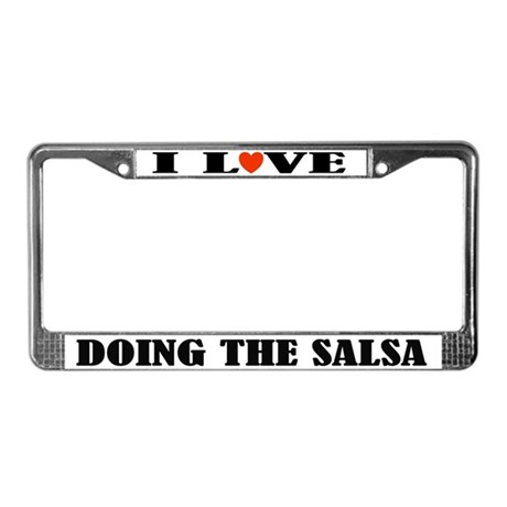 Love Dancing Salsa License Plate Frame