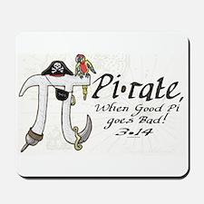 Pirate Pi Day Mousepad