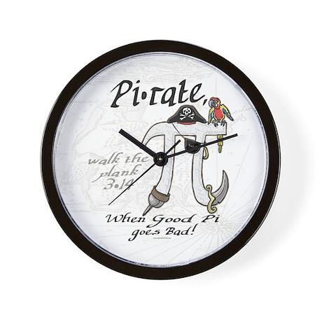 Pirate Pi Day Wall Clock