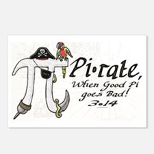 Pirate Pi Day Postcards (Package of 8)