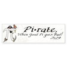 Pirate Pi Day Bumper Sticker