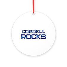 cordell rocks Ornament (Round)