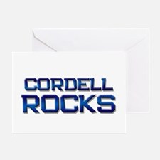 cordell rocks Greeting Card
