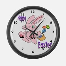 Hopping Bunny Large Wall Clock