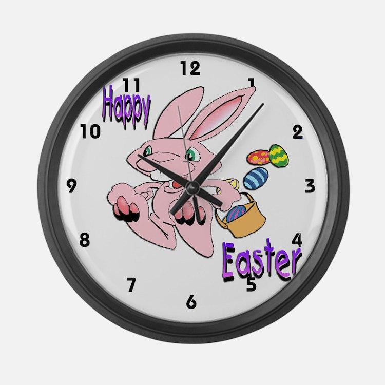 Hopping Bunny Large Wall Clock