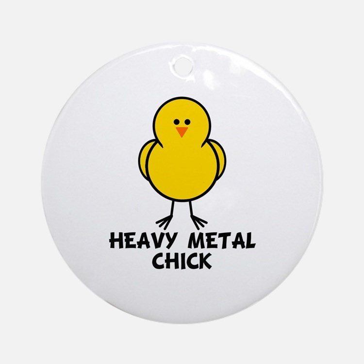 Heavy Metal Chick Ornament (Round)