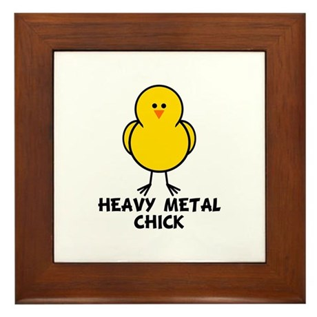 Heavy Metal Chick Framed Tile