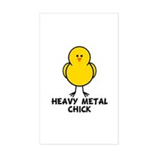 Heavy Metal Chick Rectangle Decal