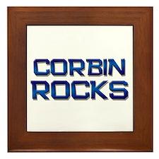 corbin rocks Framed Tile