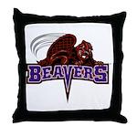 CCNY Beaver Throw Pillow