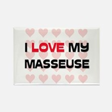 I Love My Masseuse Rectangle Magnet