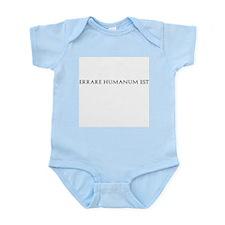 Errare Humanum Est Infant Bodysuit