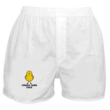 French Horn Chick Boxer Shorts