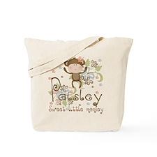Paisley..Sweet little monkey Tote Bag