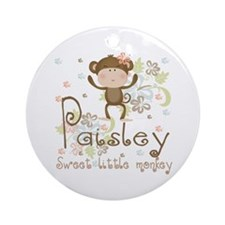 Paisley..Sweet little monkey Ornament (Round)