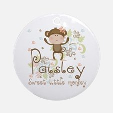 Paisley..Sweet little monkey Ornament (Round)