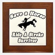 """""""Ride a Stroke Survivor"""" Framed Tile"""