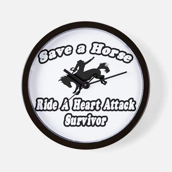"""""""Ride Heart Attack Survivor"""" Wall Clock"""