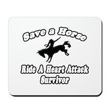 """""""Ride Heart Attack Survivor"""" Mousepad"""