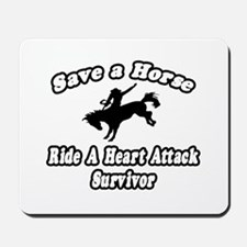 """Ride Heart Attack Survivor"" Mousepad"