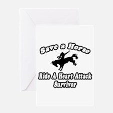 """Ride Heart Attack Survivor"" Greeting Card"