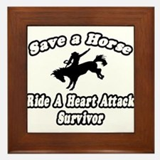"""Ride Heart Attack Survivor"" Framed Tile"