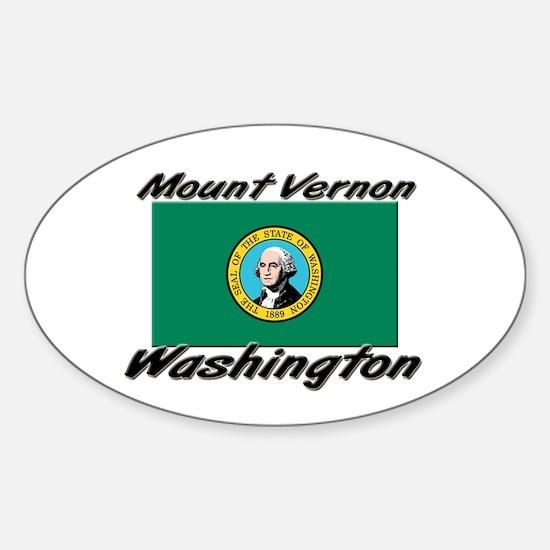 Mount Vernon Washington Oval Decal