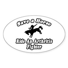 """Ride an Arthritis Fighter"" Oval Decal"