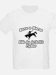 """""""Ride an Arthritis Fighter"""" T-Shirt"""