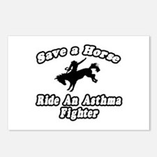 """""""Ride an Asthma Fighter"""" Postcards (Package of 8)"""
