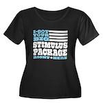 Stimulus Package Women's Plus Size Scoop Neck Dark