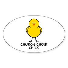 Church Choir Chick Oval Decal