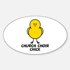 Church Choir Chick Oval Decal