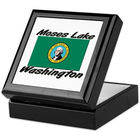 Moses Lake Washington Keepsake Box