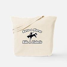 """Save Horse, Ride Diabetic"" Tote Bag"