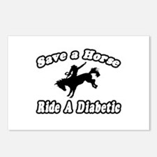 """""""Save Horse, Ride Diabetic"""" Postcards (Package of"""