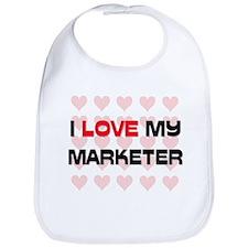 I Love My Marketer Bib