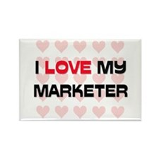 I Love My Marketer Rectangle Magnet (10 pack)